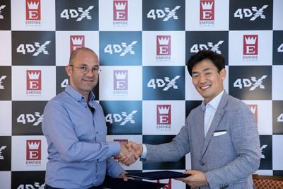 (Left) Gino Haddad CEO of Empire Cinemas / (Right) JongRyul Kim, CEO of CJ 4DPLEX