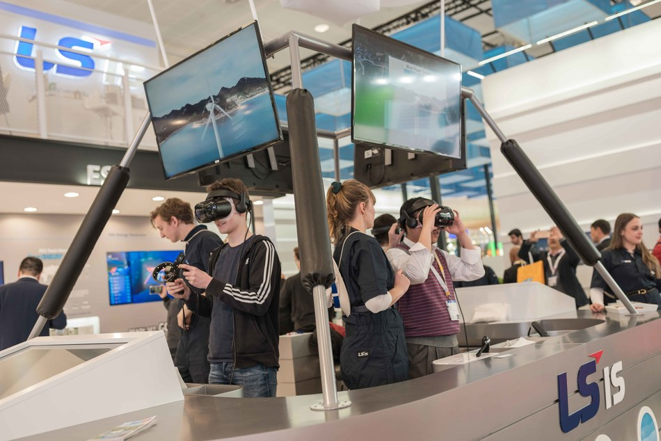LSIS showed off their DC Island project by 3D VR game in Hannover Messe 2019 (PRNewsFoto/LSIS)