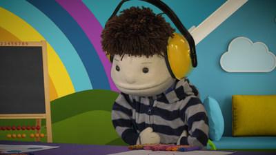 Léo, la marionnette présentant un trouble du spectre de l'autisme (Groupe CNW/Fondation Jasmin Roy)