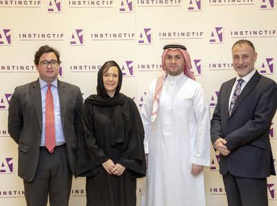 Left to right: George Allen (Associate Partner, Instinctif Partners), Samantha Bartel (Managing Partner, Instinctif Partners), Shawaf Alshawaf (General Manager, Shawaf International Company), Mustafa Othman (Marketing Director, Advert One).