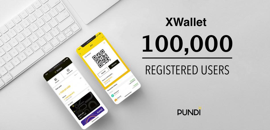 Pundi X digital asset mobile app - XWallet crosses 100,000 registered users.