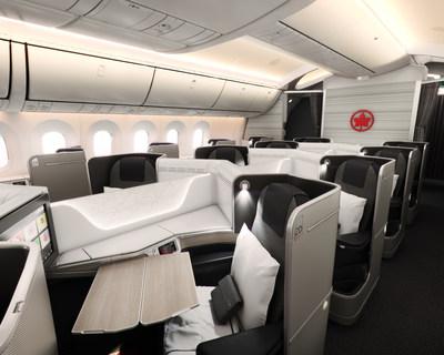 La classe Signature d'Air Canada sur le 787 Dreamliner de Boeing. (Groupe CNW/Air Canada)
