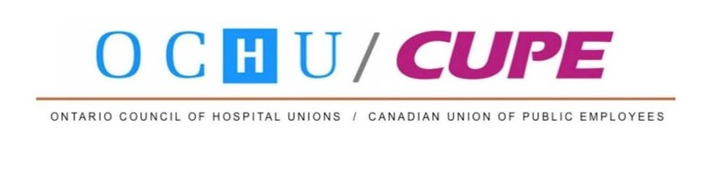 Logo: Ontario Council of Hospital Unions (OCHU) / Canadian Union of Public Employees (CUPE) (CNW Group/CUPE Ontario)