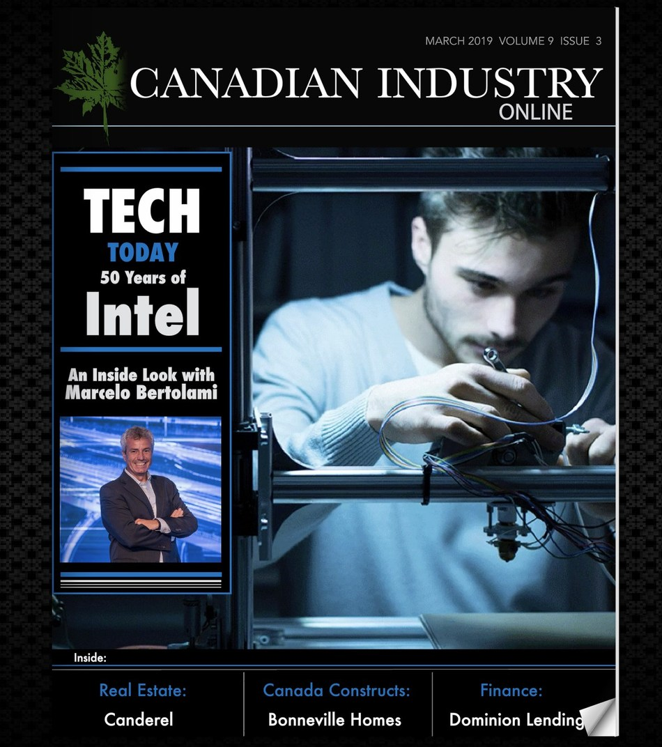 Intel on the cover of Canadian Industry magazine (CNW Group/Industry Media)