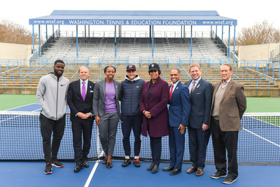 Francis Tiafoe (player), Mark Ein, Rebecca Crouch-Pelham (President and CEO, WTEF), Denis Kudla (player), Mayor Muriel Bowser, Ward 4 Councilmember Brandon Todd, Brett Haber (sportscaster), Donald Dell (co-founder of tournament)
