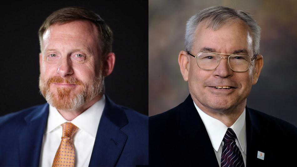 Adm. Michael S. Rogers, left, former commander of the U.S. Cyber Command and director of the National Security Agency, and Lt. Gen. Ronald L. Burgess Jr., former director of the U.S. Defense Intelligence Agency, will join the advisory board for the McCrary Institute for Cyber and Critical Infrastructure Security at Auburn University.