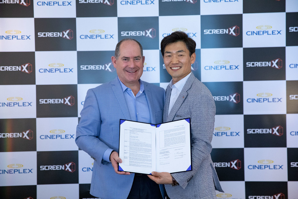 CJ 4DPLEX and Cineplex Announce Canadian Expansion Plans for ScreenX
