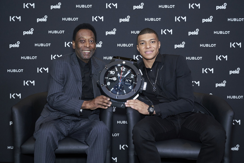 Pele and MBappe historical encounter