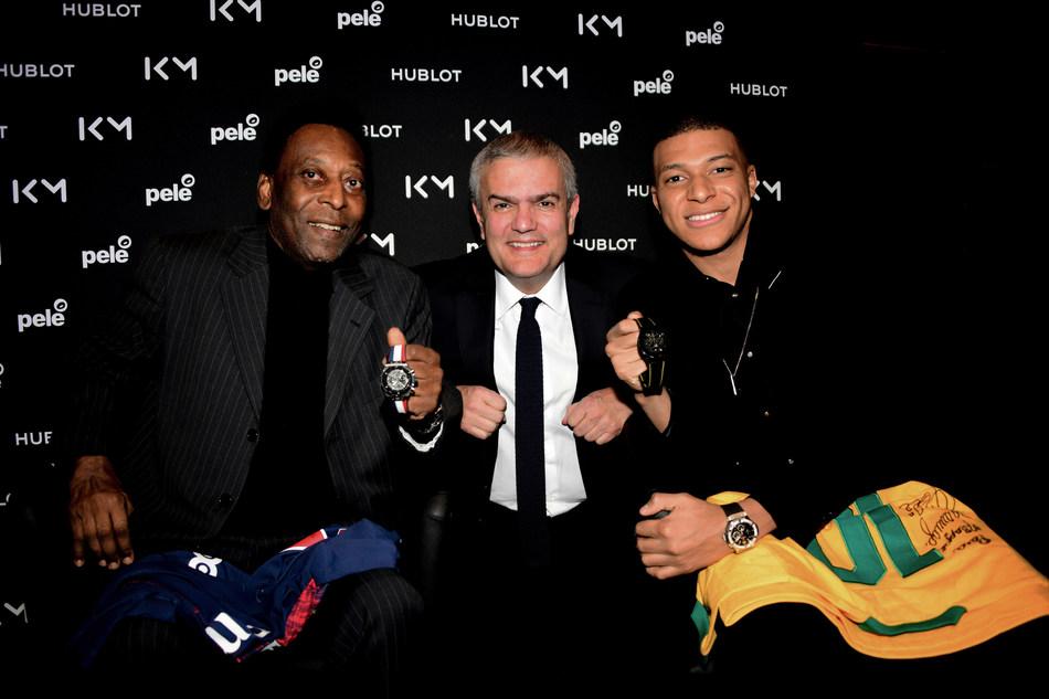 Pele, Ricardo-Guadalupe, and Kylian Mbapp (PRNewsfoto/HUBLOT)
