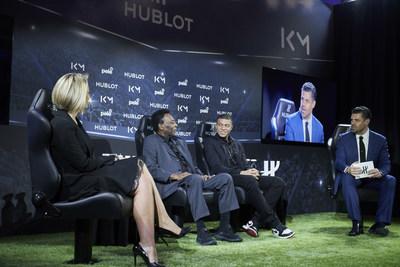 Anne Laure Bonnet, Pele, Kylian Mbapp, and Pedro Pinto (PRNewsfoto/HUBLOT)