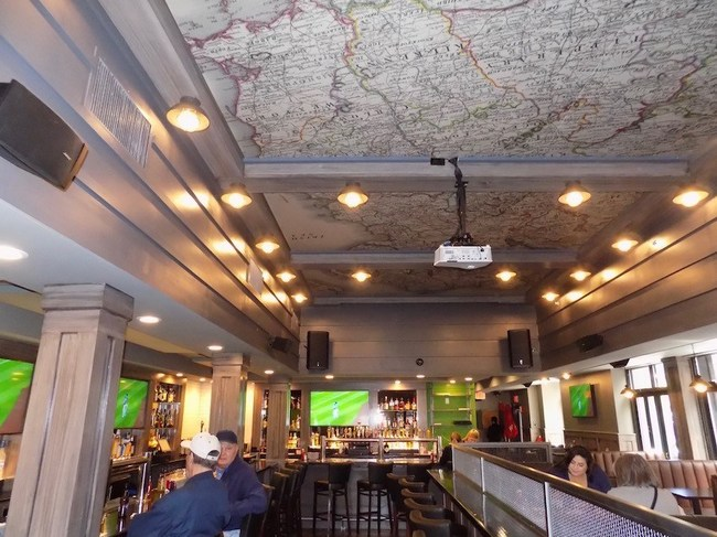 Acoustical Panels decorating the ceiling of a popular tavern