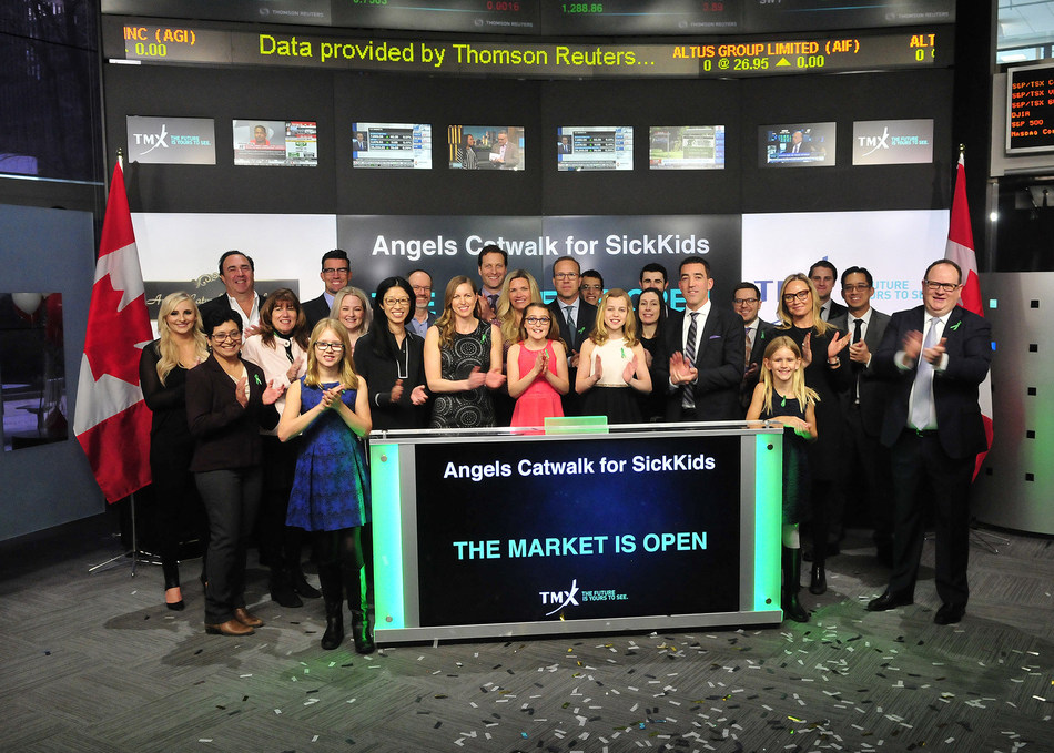 Angels Catwalk for SickKids Opens the Market (CNW Group/TMX Group Limited)
