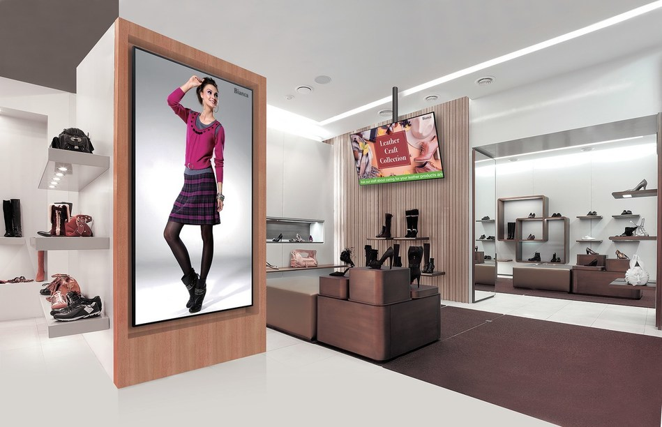 A Sharp PN-HB Series 4K Ultra-HD LCD (3,840 × 2,160-pixel resolution) commercial display.