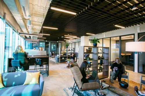The Madison-Middleton Serendipity Labs will meet the same premium design standards as this Denver location. The company uses only low volatile organic compound (VOC) paint and nontoxic materials. All carpet is 100% recyclable. (Photo credit: Rebecca Ann Photography)