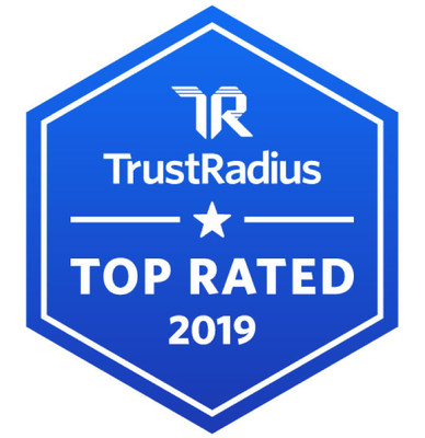 Nintex today announced that TrustRadius has recognized the Nintex Platform with 2019 Top Rated Award designations in two categories, Business Process Management and Low-Code Development. (PRNewsfoto/Nintex)