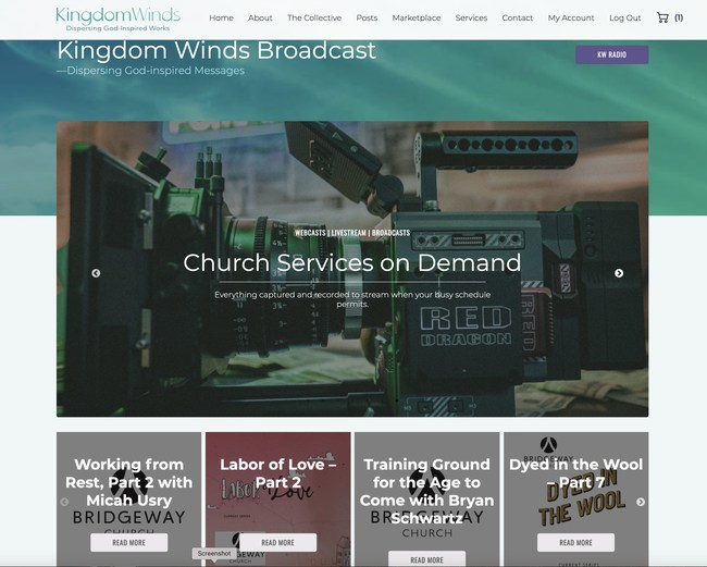 Kingdom Winds Broadcast is the online destination place to find streaming webcasts from new and familiar Christian voices.