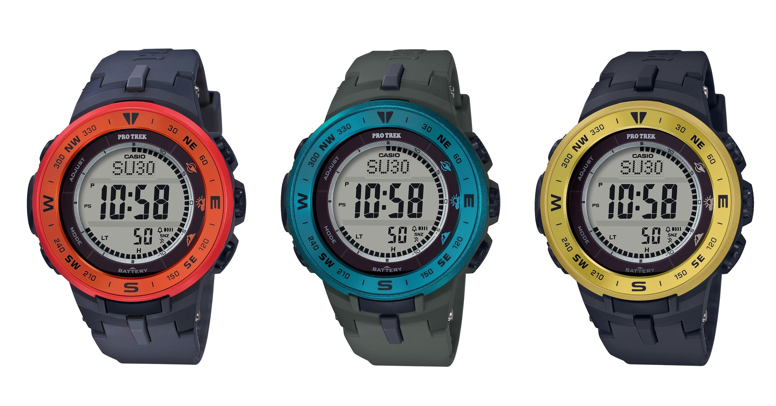 33fe82475 Casio Adds A Pop Of Color To PRO TREK Series
