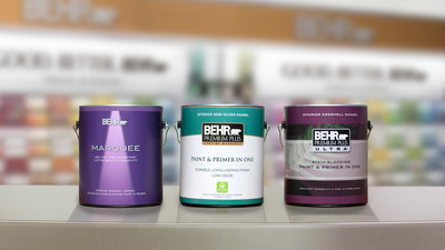 Behr's high-quality interior paints tied for No. 1 in customer satisfaction, according to the J.D. Power 2019 Paint Satisfaction Study. (PRNewsfoto/Behr)