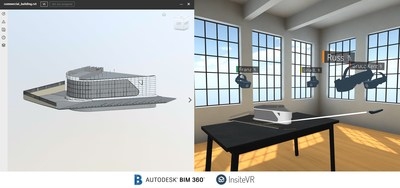 The InsiteVR integration with Autodesk BIM 360 enables construction teams to review BIM 360 projects together in VR.