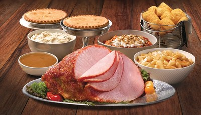 For $119.99, families can enjoy a Heat & Serve Easter Meal for 12 that features a spiral-sliced ham or either a boneless honey-glazed ham or boneless roasted turkey breast (or a combination of both).