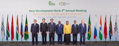 Foto do grupo na 4a Reunião Anual do Novo Banco de Desenvolvimento (PRNewsfoto/New Development Bank)