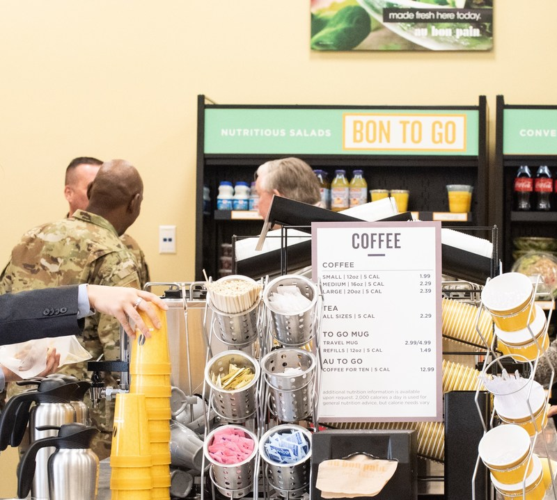 Sodexo Opens Au Bon Pain Café Bakery at the Cannon House Office Building in Washington, D.C.The Au Bon Pain is located on the first floor of the Cannon House Office Building, room 194, and is open to the public Monday through Friday from 7:30 a.m. to 4:00 p.m. The restaurant employs 16 team members.