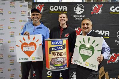 Goya Foods, los New Jersey Devils y el Prudential Center, donan 61,265 libras de alimentos al Community FoodBank of New Jersey