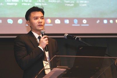 Mo Junqi, vice president of NetDragon gave a speech at BRICS Business Council's Digital Economy Working Group meeting