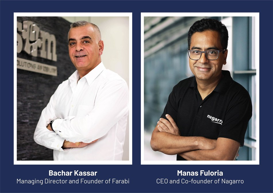 Bachar Kassar, Managing Director and Founder of Farabi | Manas Fuloria, CEO and Co- founder of Nagarro