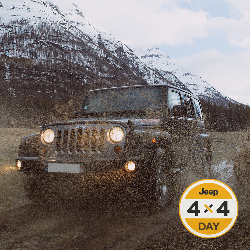 Fourth annual 'Jeep® 4x4 Day' celebration goes global across Instagram on April 4, 2019