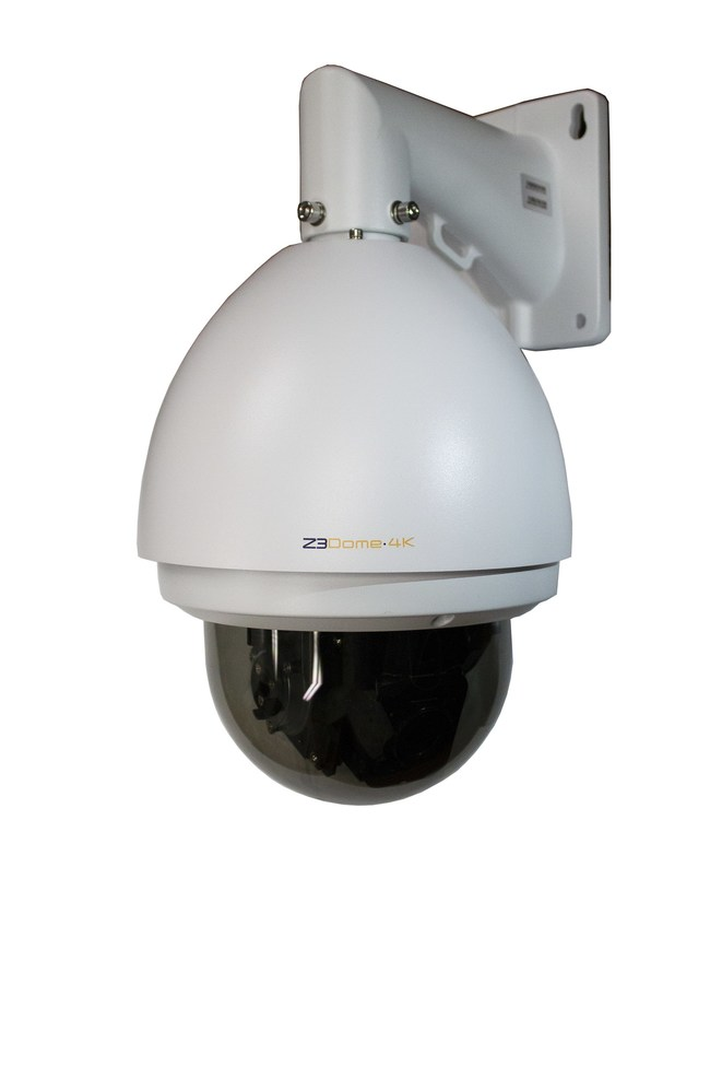 Indoor/Outdoor H.265 4K IP Camera | Z3Dome-4K. Combining the video compression expertise from Z3 Technology, with Sony's proven 4K camera technology, the powerful Z3Dome-4K allows for clear 4K video streaming over Ethernet networks. This robust high speed 360° camera dome brings clarity and detail to high movement and low light conditions, featuring 30x zoom with integrated auto focus.
