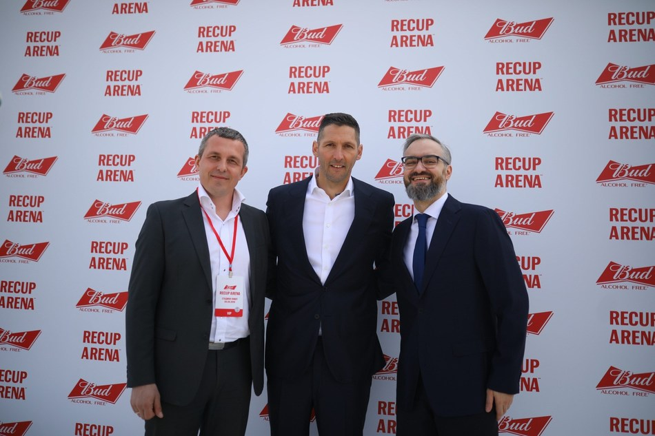 The opening of the Budweiser ReCup Arena in Sochi, Russia, was attended by official guests including Marco Materazzi, FIFA Legend, Andrei Markov, Minister of sports of Krasnodar region and Konstantin Tamirov, Marketing Director of AB InBev Efes.