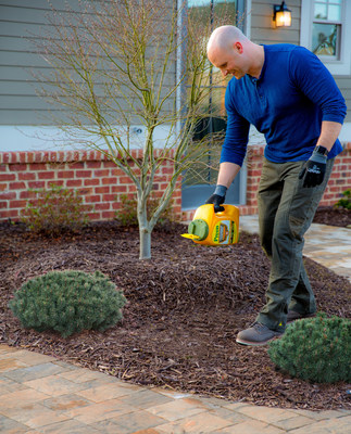 Chip Wade, an HGTV star and home expert, sprinkles pre-emergent on top of mulch in spring. He's using Preen Extended Control Weed Preventer which blocks weeds for six months, guaranteed. Apply the product in landscape beds, around established plants, including listed perennials, trees, shrubs and groundcovers. No weeds means no weeding. For details, visit extendedcontrol.preen.com/.