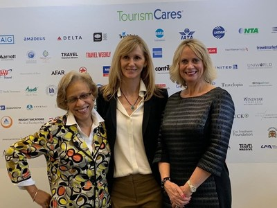 Pictured (L to R) at the World Travel & Tourism Council (WTTC) Global Summit in Seville, Spain are Gail Moaney, Founding Managing Partner and Director, Travel & Lifestyle Practice, FINN Partners; Paula Vlamings, CEO, Tourism Cares; and Debbie Flynn, Managing Partner, Travel & Lifestyle Practice, FINN Partners