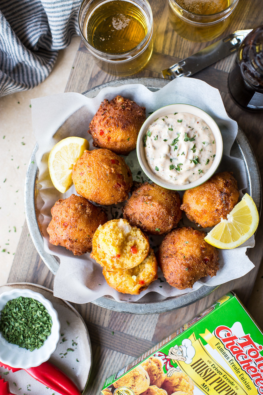 Tony's Lobster Hush Puppies with Creole Remoulade by The Beach House Kitchen