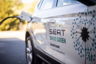"""With all the organic waste that is generated we can produce enough biomethane to power 10,000 cars to travel around 15,000 kilometres every year"", (PRNewsfoto/SEAT)"