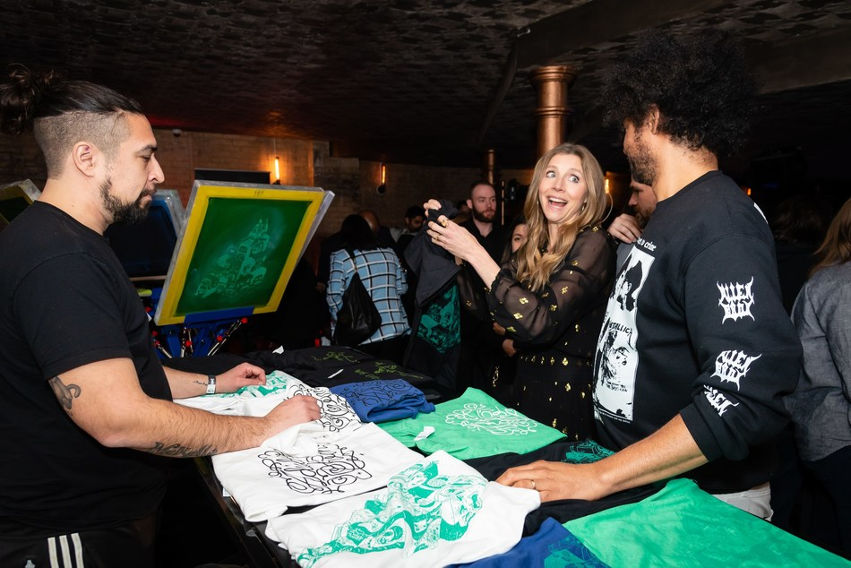 Adult Swim's Rick and Morty star Sarah Chalke and Derrick Beckles from Mostly for Millennials at the Adult Swim launch party on April 3, 2019. Photo credit: Ryan Visima (CNW Group/Corus Entertainment Inc.)