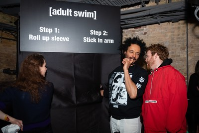Adult Swim's Derrick Beckles from Mostly for Millennials at the Adult Swim launch party on April 3, 2019. Photo credit: Ryan Visima (CNW Group/Corus Entertainment Inc.)