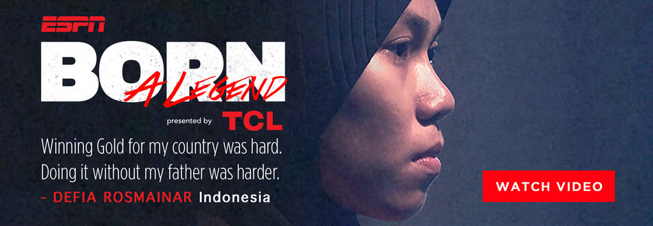 TCL y ESPN estrenan el primer video inspiracional 'Born a Legend' dedicado a Defia Rosmaniar, atleta del taekwondo femenino de Indonesia