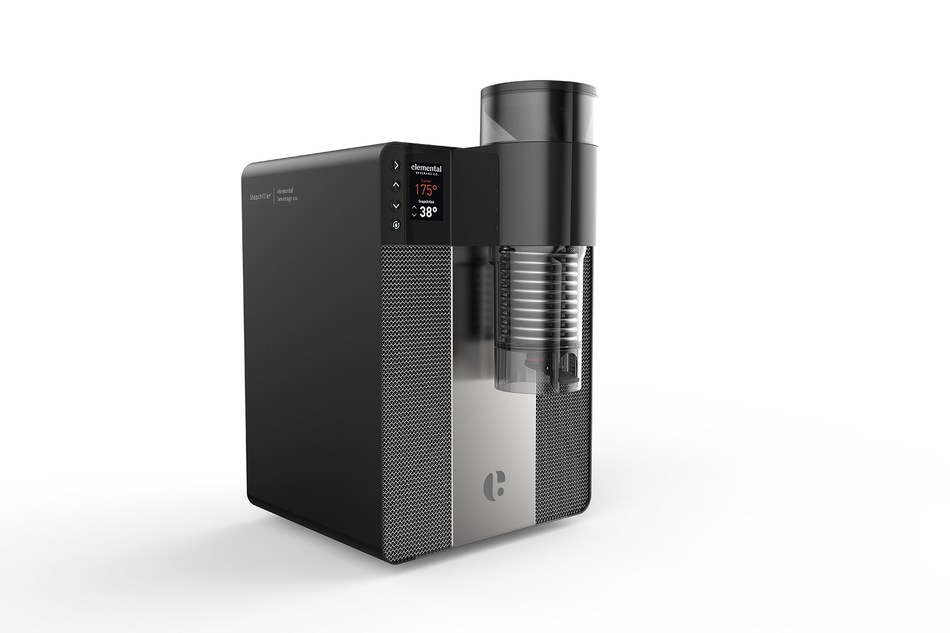For commercial use, Elemental Beverage Company introduces its commercial-grade Snapchiller, allowing cafés, restaurants and bars easy access to Snapchilled on-demand beverages.