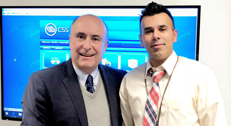 Shahid Chaudhry, Chief Tax Compliance Officer for the City of Los Angeles (right) Sergio Seplovich, Projects Director at CSS, Inc. (left)