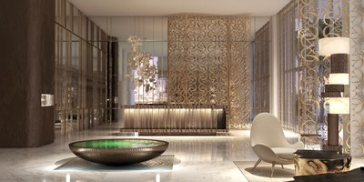ELIE SAAB at Emaar Beachfront interior lobby rendering