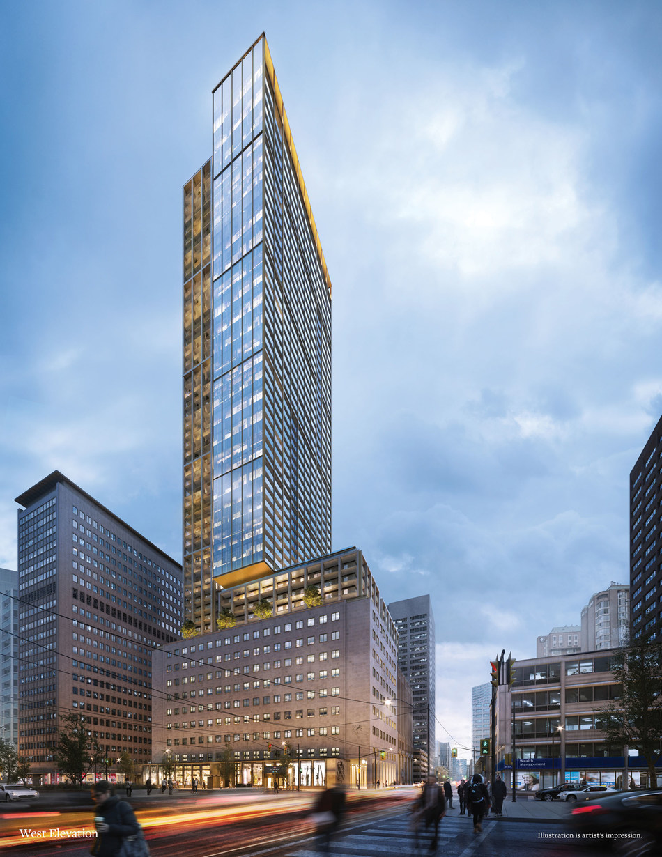 The United Building - Toronto Hero Rendering (CNW Group/DAVPART Inc.)