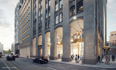 The United Building Toronto - Retail Colonnade (CNW Group/DAVPART Inc.)