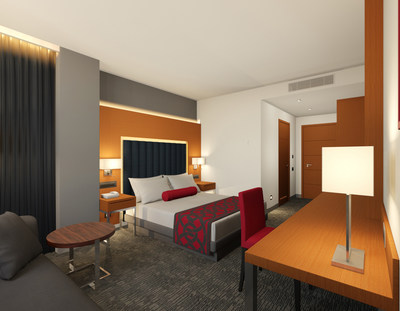 The newly opened Ramada Hotel & Suites by Wyndham Yerevan in Armenia's capital city expands Ramada by Wyndham's footprint across Europe. (PRNewsfoto/Wyndham Hotels & Resorts)