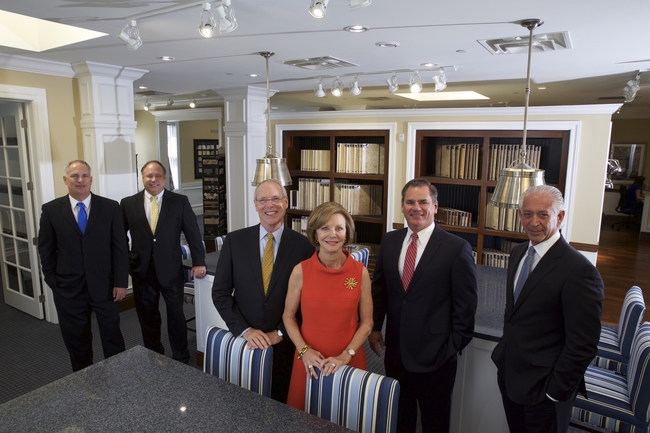 From left to right: John Collier, Randy Turkovics, Pat Neal, Charlene Neal, Michael Storey and Michael Greenberg.