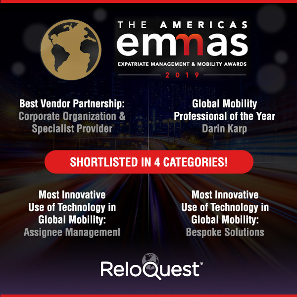 ReloQuest Inc. is shortlisted in 4 categories at the FEM Americas EMMAs
