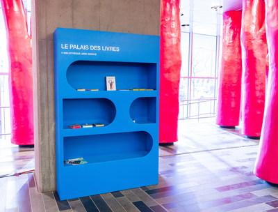 Bibliothèque libre-service créée sur mesure par Labodeco. (Groupe CNW/Palais des congrès de Montréal)