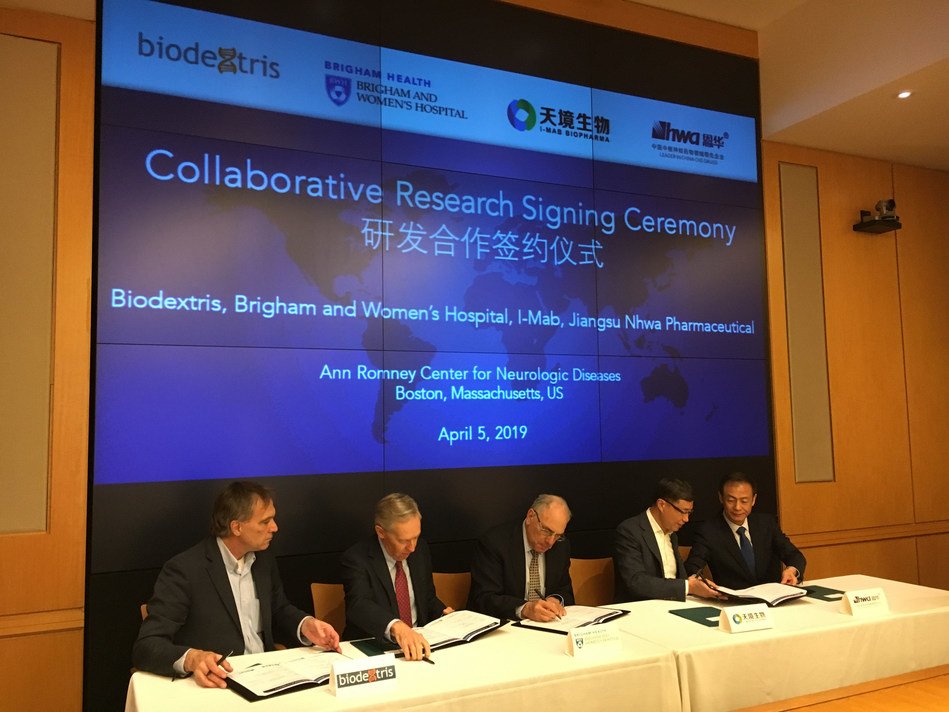 I-Mab Biopharma and Jiangsu Nhwa Pharmaceutical Announce Strategic Collaboration Agreement with Biodextris and a Boston-Based, Leading Academic Medical Center