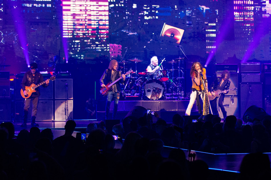 """AEROSMITH LAUNCHES NEW LAS VEGAS RESIDENCY """"AEROSMITH: DEUCES ARE WILD"""" AT PARK THEATER AT PARK MGM ON SATURDAY, APRIL 6, 2019. PHOTO BY ZACK WHITFORD."""